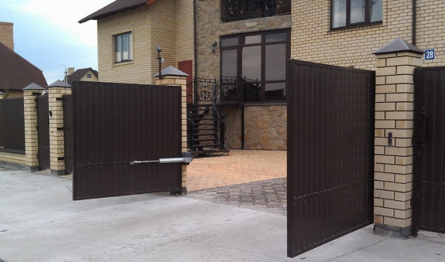 Распашные ворота автоматика для ворот воронеж